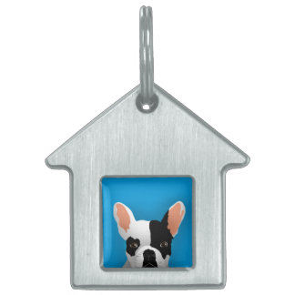 Bulldog art - french bulldog pet tag