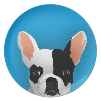 Bulldog art - french bulldog plate