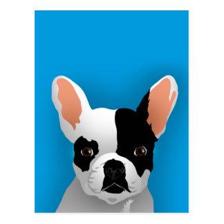 Bulldog art - french bulldog postcard