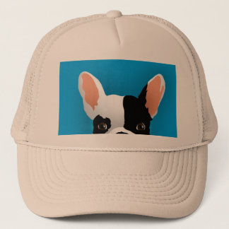 Bulldog art - french bulldog trucker hat