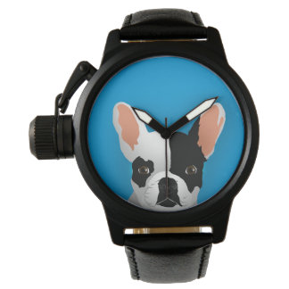 Bulldog art - french bulldog watch