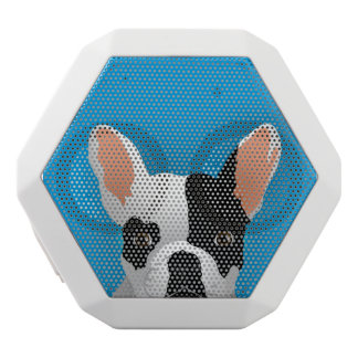 Bulldog art - french bulldog white bluetooth speaker
