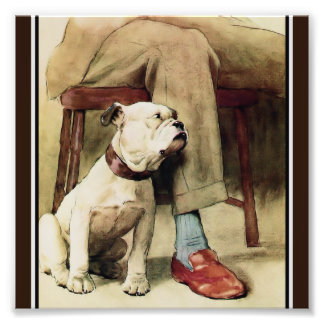 Bulldog at Masters Feet Photo Print