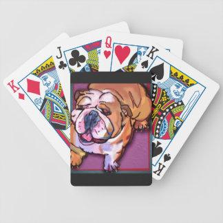 Bulldog Bicycle Playing Cards