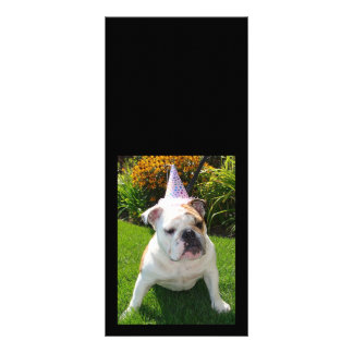 Bulldog Birthday Party Personalised Rack Card