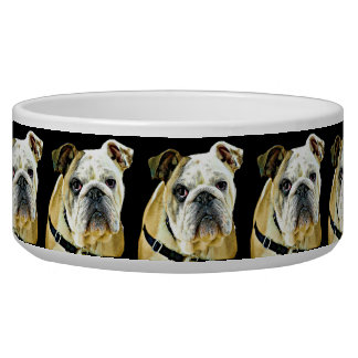 Bulldog black Dog Bowl