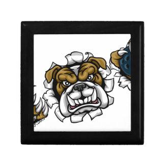 Bulldog Bowling Sports Mascot Gift Box