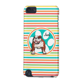 Bulldog Bright Rainbow Stripes iPod Touch (5th Generation) Case
