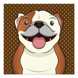 Bulldog Cartoon Paws Photo Print