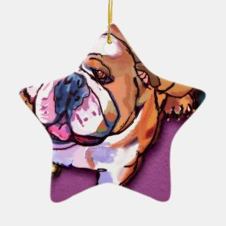 Bulldog Ceramic Ornament