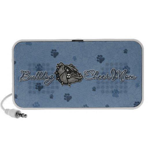 Bulldog Cheer Mom iPod Speakers