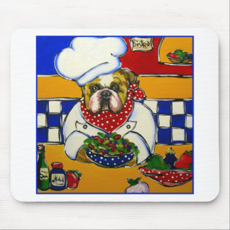 Bulldog Chef Mouse Pad