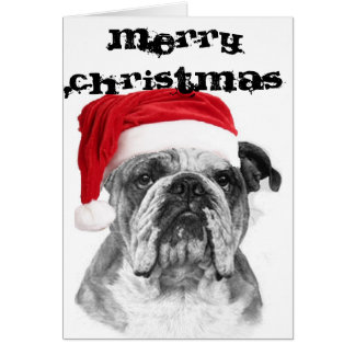 Bulldog Christmas Card