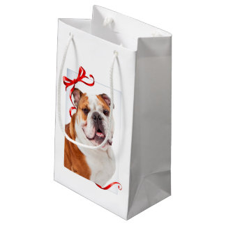 Bulldog Christmas Gift Bag