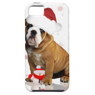Bulldog Christmas iPhone 5 Case