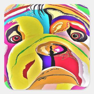 Bulldog Close-up Square Sticker
