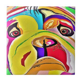 Bulldog Close-up Tile