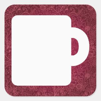 Bulldog Cups Minimal Square Sticker
