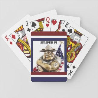 Bulldog D.I. Semper Fi / Playing Cards