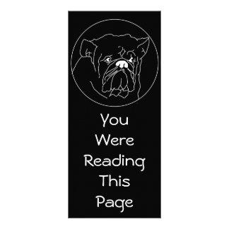 Bulldog Dark Bookmark Template Rack Card