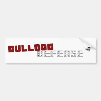 Bulldog Defense Bumper Sticker