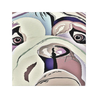 BULLDOG Denim Colors Canvas Print