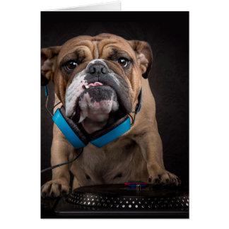 bulldog dj - dj dog card