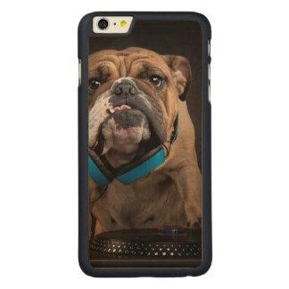 bulldog dj - dj dog carved maple iPhone 6 plus case