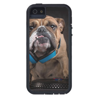 bulldog dj - dj dog case for the iPhone 5