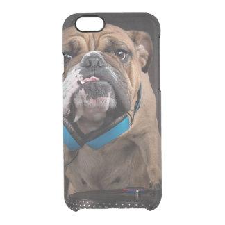 bulldog dj - dj dog clear iPhone 6/6S case