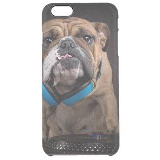 bulldog dj - dj dog clear iPhone 6 plus case