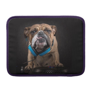 bulldog dj - dj dog sleeve for MacBook air