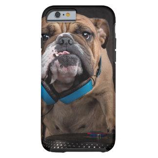 bulldog dj - dj dog tough iPhone 6 case
