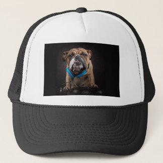 bulldog dj - dj dog trucker hat