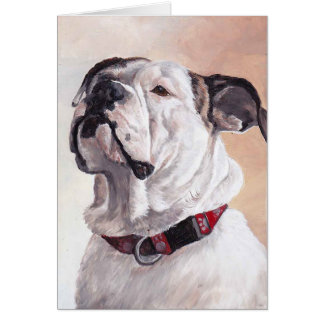 Bulldog Dog Art Greeting Card