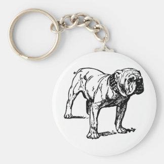 Bulldog Dog Business Key Chain