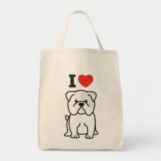 Bulldog Dog Cartoon Bags