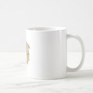 Bulldog Dog Mongrel Head Collar Mono Line Coffee Mug