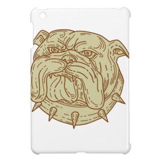 Bulldog Dog Mongrel Head Collar Mono Line iPad Mini Cases