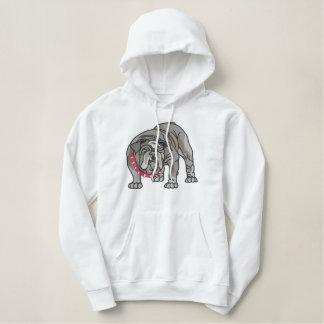 Bulldog Embroidered Hoodie