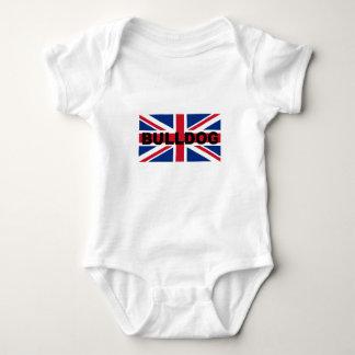 bulldog england United_Kingdom name flag Baby Bodysuit