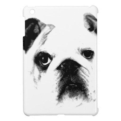 Bulldog Face. Cute Big Eyed Bulldog iPad Mini Cases