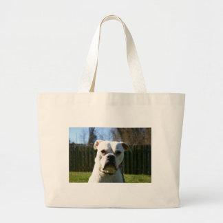 Bulldog Face Large Tote Bag