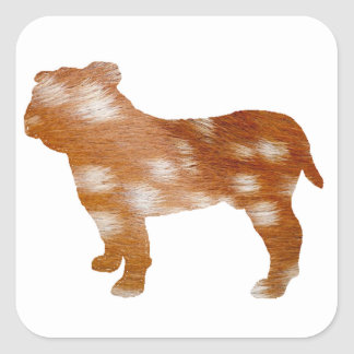 bulldog fallow silo square sticker