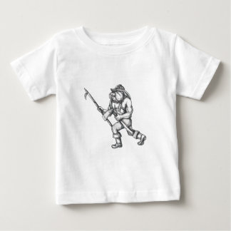 Bulldog Firefighter Pike Pole Fire Axe Tattoo Baby T-Shirt