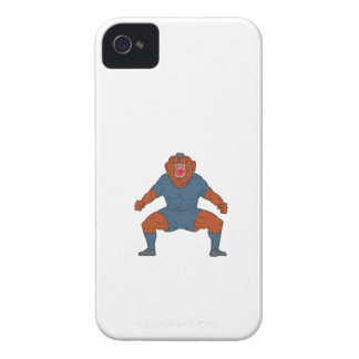 Bulldog Footballer Celebrating Goal Cartoon iPhone 4 Case
