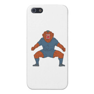 Bulldog Footballer Celebrating Goal Cartoon iPhone 5 Covers