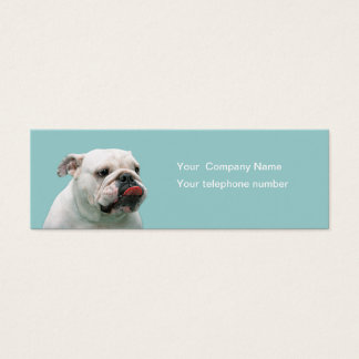 Bulldog funny face  custom business card