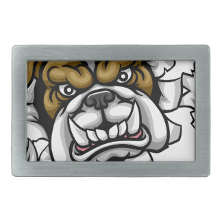 Bulldog Golf Sports Mascot Rectangular Belt Buckles