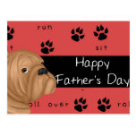 Bulldog Happy Father's Day Postcard